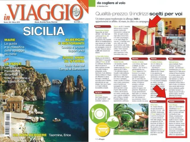 Recensione di IN VIAGGIO B&B Casa Olimpia fra le 9 strutture consigliate in Sicilia