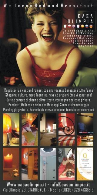 Giarre B&B Casa Olimpia Sicilia Romantico Week End Benessere