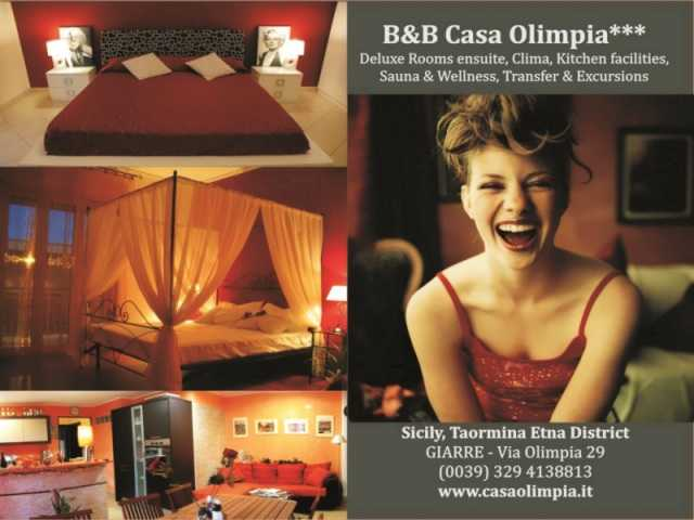 Business Card B&B Casa Olimpia Giarre - Taormina Etna