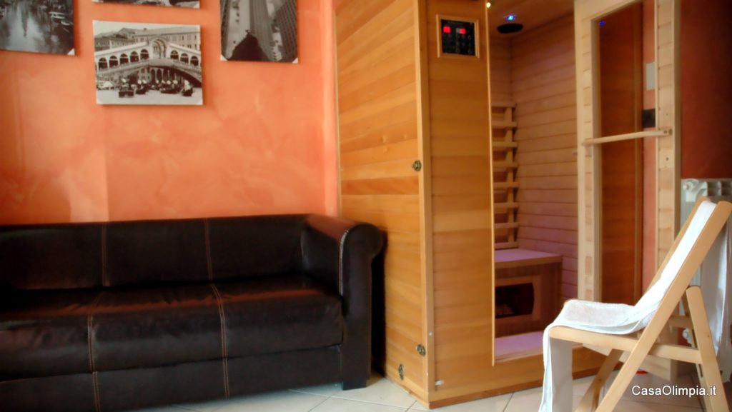 Benessere sala Sauna Relax infrarossi