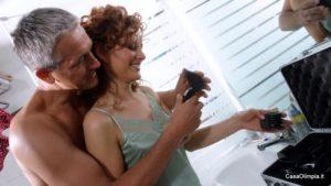 Camera matrimoniale bagno con doccia per due