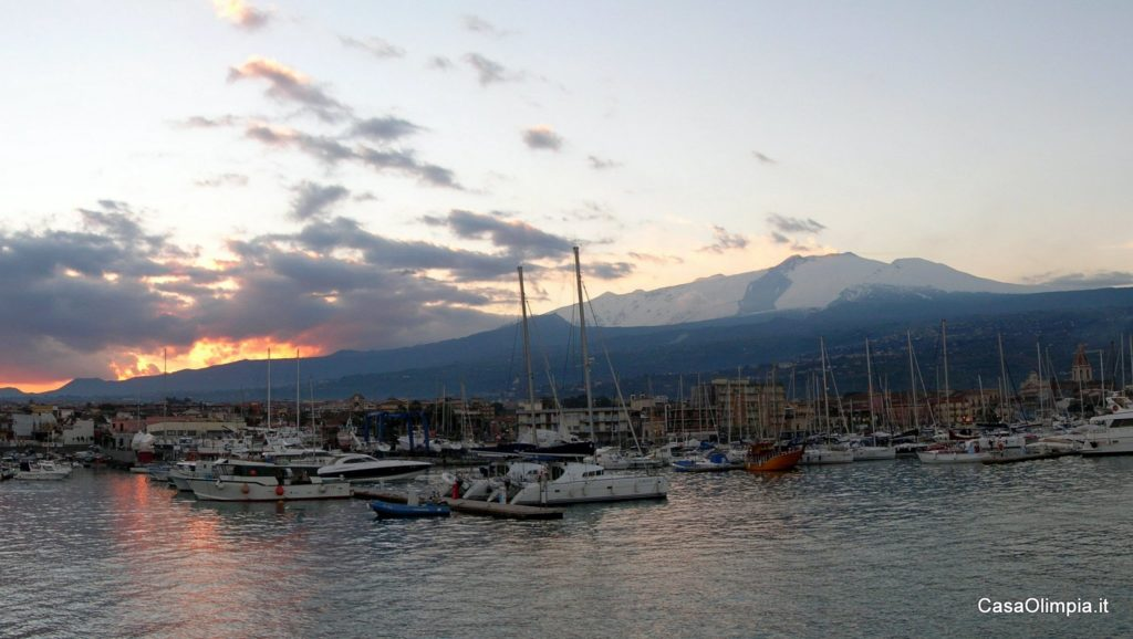 Etna view Giarre-Riposto and Marina
