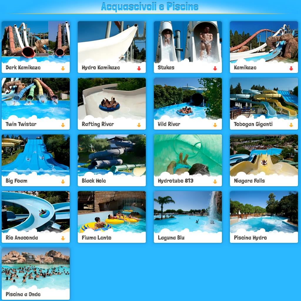 Etnaland AcquaPark Attractions slides and pools