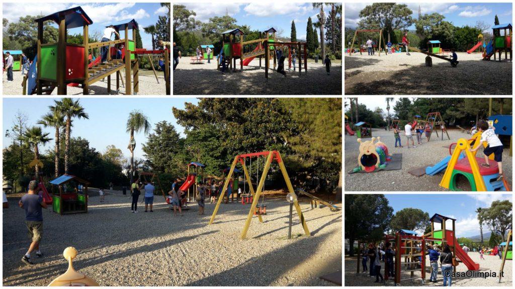 parco giochi bambini Chico Mendez Giarre scivoli altalene
