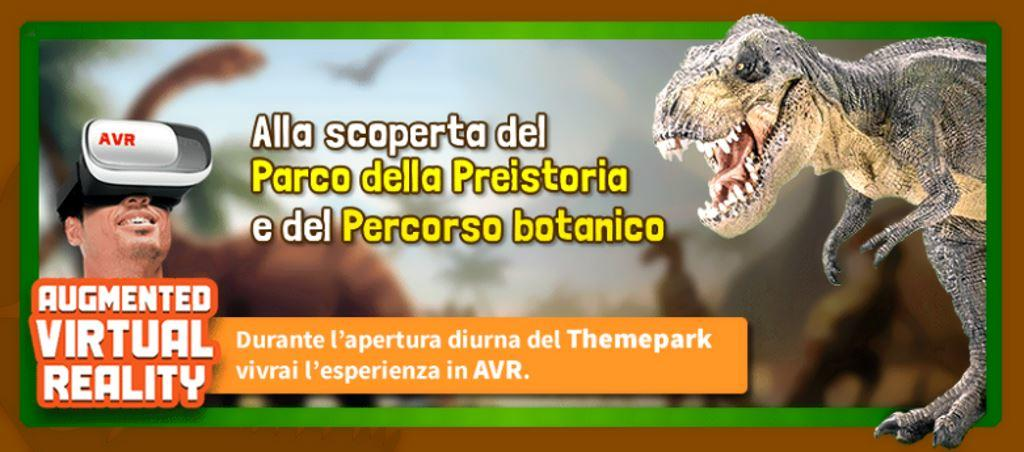 Etnaland Dinosaur Park Prehistory Sicilia experience AVR Augmented Reality Virtual Reality with special viewers for free allocations