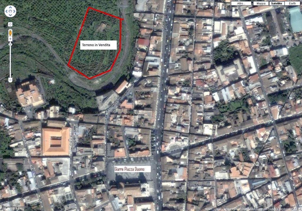Vendesi terreno con rustico Agriturismo vendesi su progetto Mappa Terreno Giarre in vendita