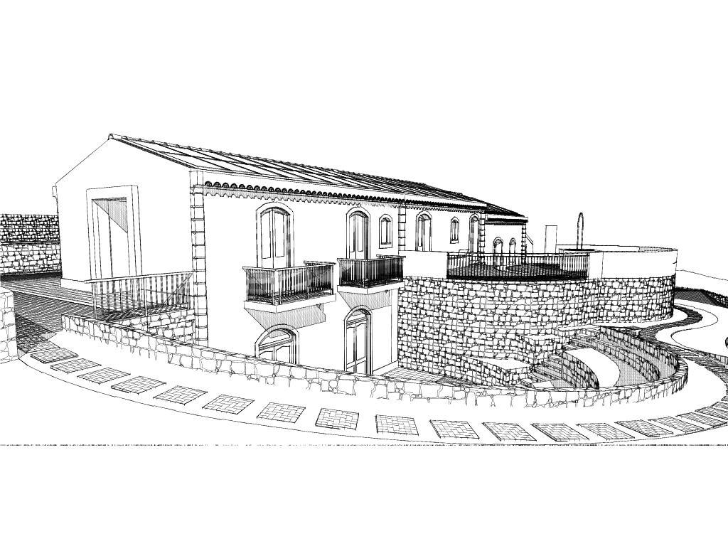 Agriturismo vendesi su progetto Progetto Villa schizzo