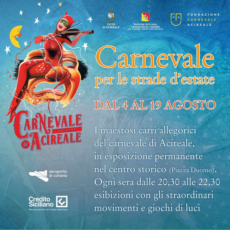 Carnevale Estivo Acireale 2018 Sicilia Eventi date programma