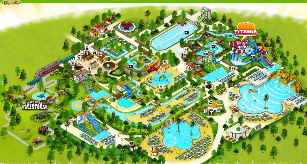 Etnaland Acquapark map Dinosaurs and Prehistoric Park