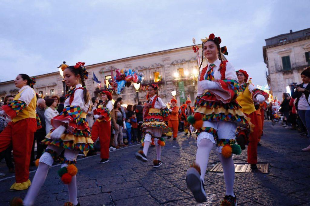 Flower Festival in Acireale costumes masked groups parade