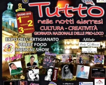 Notte bianca Giarre 2018 Pro-Loco Evento TuttoNelleNottiGiarresi