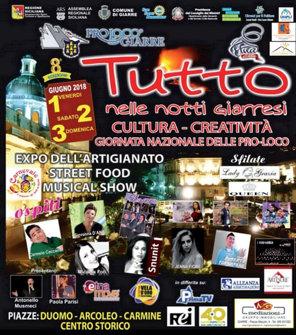 Notte bianca giarre 2018 programma evento tutto nelle for Pro loco taormina
