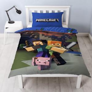 Pacchetto bimbini Minecraft Steve & Alex lenzuola per letto singolo